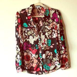 EXPRESS Portofino Shirt- Floral Print